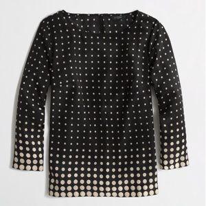 {j. crew} factory printed scoopneck blouse